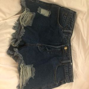 *New* S/M Jean Ripped Booty Shorts